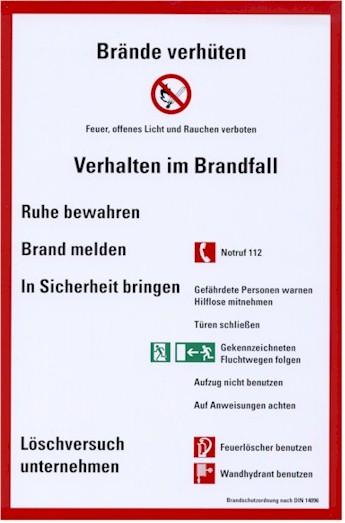 Beispiel einer Brandschutzordnung